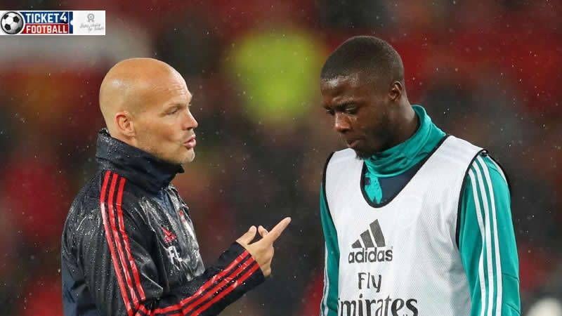 Nicolas Pepe and Fredrik Ljungberg having decussion in practice sassion. Purchase Arsenal Tickets to enjoy its stunning performances.